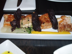 pork belly and black pudding