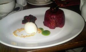 Summer pudding at the Hand and Heart